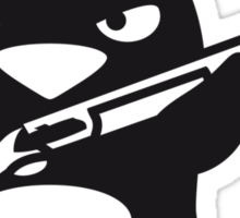 Shotgun Penguin Sticker
