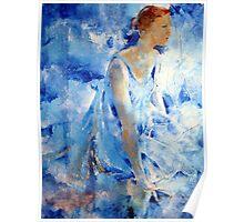 Dancer In Blue - Ballet & Dance Art Gallery Poster