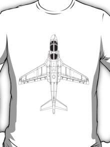 Northrup Grumman EA-6B Prowler Blueprint T-Shirt