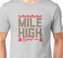 Mile High Surf Co. - Brown + Red Unisex T-Shirt
