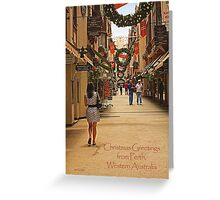 London Court, Perth, Western Australia Greeting Card