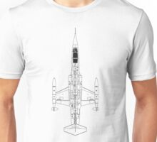 Lockheed F-104 Starfighter Blueprint Unisex T-Shirt
