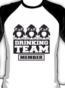 Penguin Drinking Team Member T-Shirt