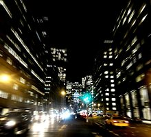 New York at night by Josh Deane