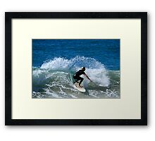 Surfing Duranbah Beach Framed Print