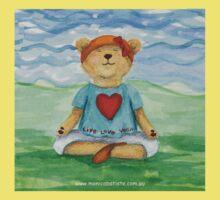 Live Love Yoga Bear  One Piece - Short Sleeve