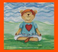 Live Love Yoga Bear  Kids Tee