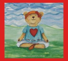 Live Love Yoga Bear  Baby Tee