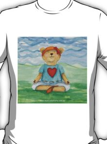 Live Love Yoga Bear  T-Shirt