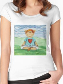 Live Love Yoga Bear  Women's Fitted Scoop T-Shirt
