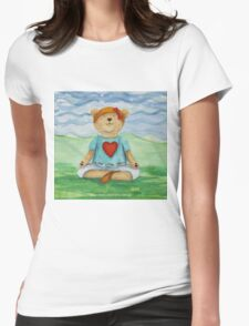Live Love Yoga Bear  Womens Fitted T-Shirt