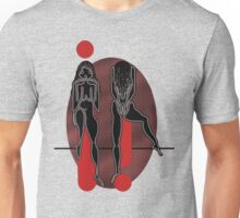 Two black girls in red Unisex T-Shirt