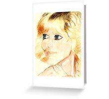 Farrah Fawcett Greeting Card