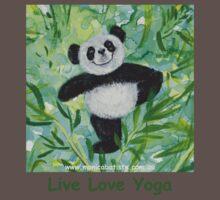 Live Love Yoga Panda Bear Kids Clothes