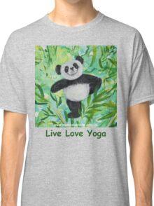 Live Love Yoga Panda Bear Classic T-Shirt