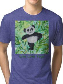 Live Love Yoga Panda Bear Tri-blend T-Shirt