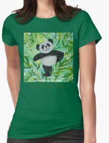 Live Love Yoga Panda Bear Womens Fitted T-Shirt
