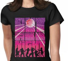 Out all Night Womens Fitted T-Shirt