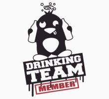 Drinking Team Member Penguin by Style-O-Mat