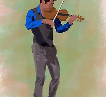 Violin Player Study by Aaron McDermott