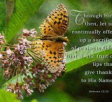 Offer a sacrifice-Hebrews 13:15 by vigor