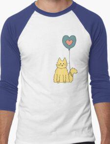 My cat loves balloons Men's Baseball ¾ T-Shirt