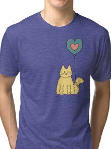 My cat loves balloons Tri-blend T-Shirt