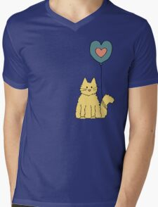 My cat loves balloons Mens V-Neck T-Shirt