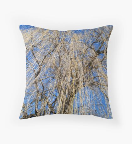 Mourning Willow Throw Pillow