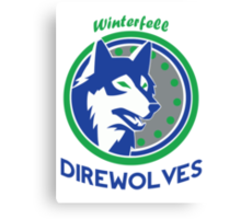 Throwback Winterfell Direwolves  Canvas Print