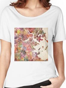 Boston map Women's Relaxed Fit T-Shirt