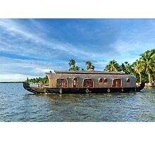 House Boat on Kerala Backwaters Photographic Print