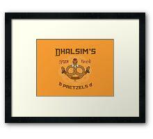 Street Vendor 2- Dhalsim's  yoga fired Pretzels Framed Print