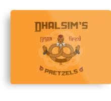 Street Vendor 2- Dhalsim's  yoga fired Pretzels Metal Print