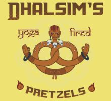 Street Vendor 2- Dhalsim's  yoga fired Pretzels Kids Clothes