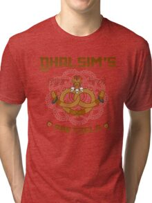 Street Vendor 2- Dhalsim's  yoga fired Pretzels Tri-blend T-Shirt