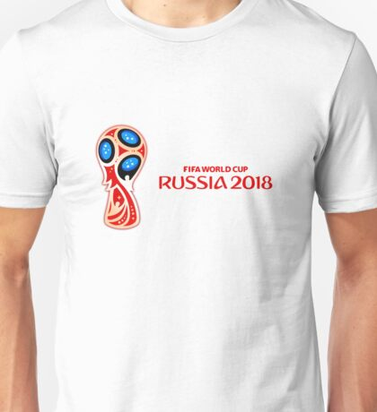 Russia 2018, Fifa World Cup logo (D, horizontal red write) Unisex T-Shirt