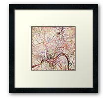 Cincinnati map Framed Print