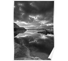 Granite Monsoon BW Poster