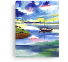 Boat n Colors Canvas Print