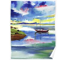 Boat n Colors Poster