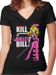 Kill Bullet Bill (Black & Magenta Variant) Women's Fitted V-Neck T-Shirt