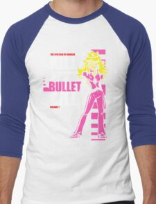 Kill Bullet Bill (Black & Magenta Variant) Men's Baseball ¾ T-Shirt