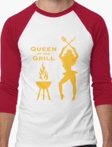 Queen Of The Grill (Barbecue) Men's Baseball ¾ T-Shirt