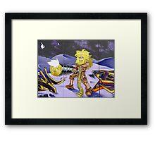 Futuristic Robinson Crusoe Framed Print