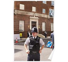 A police officer outside St Mary's Hospital London Poster