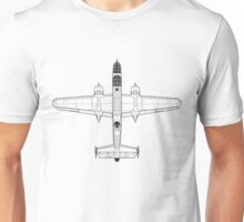 North American B-25C Mitchell Blueprint Unisex T-Shirt