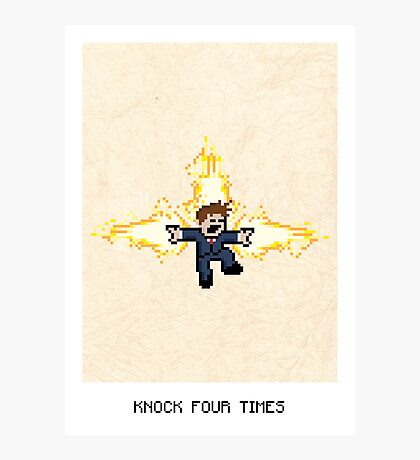 Knock Four Times Photographic Print