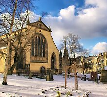 Greyfriars Kirkyard in the Snow, Edinburgh. Scotland by Miles Gray