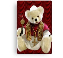 † ❤ † POPE BEAR SPRINKLES BLESSINGS TO ALL † ❤ † Canvas Print